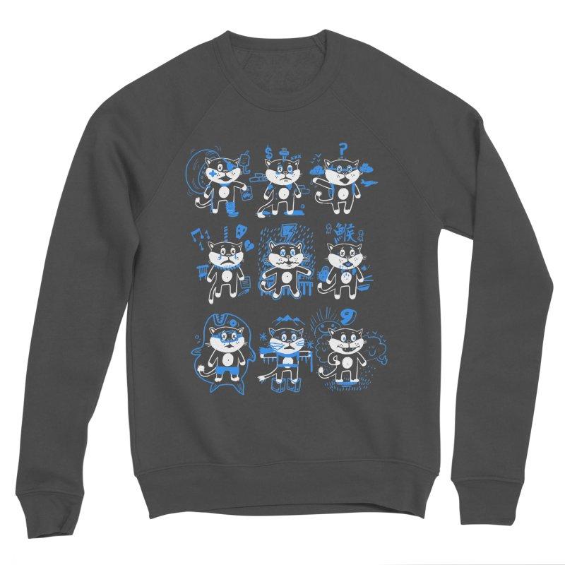 Nine Lives Men's Sponge Fleece Sweatshirt by Thomas Orrow