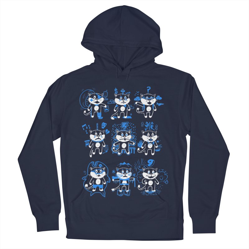 Nine Lives Women's French Terry Pullover Hoody by Thomas Orrow