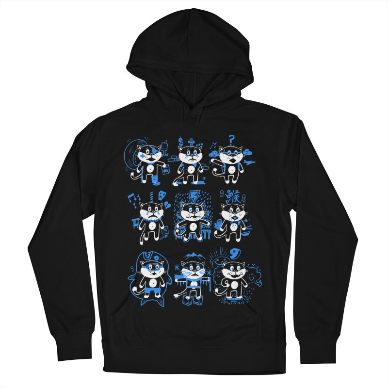 Nine Lives Men's French Terry Pullover Hoody by Thomas Orrow