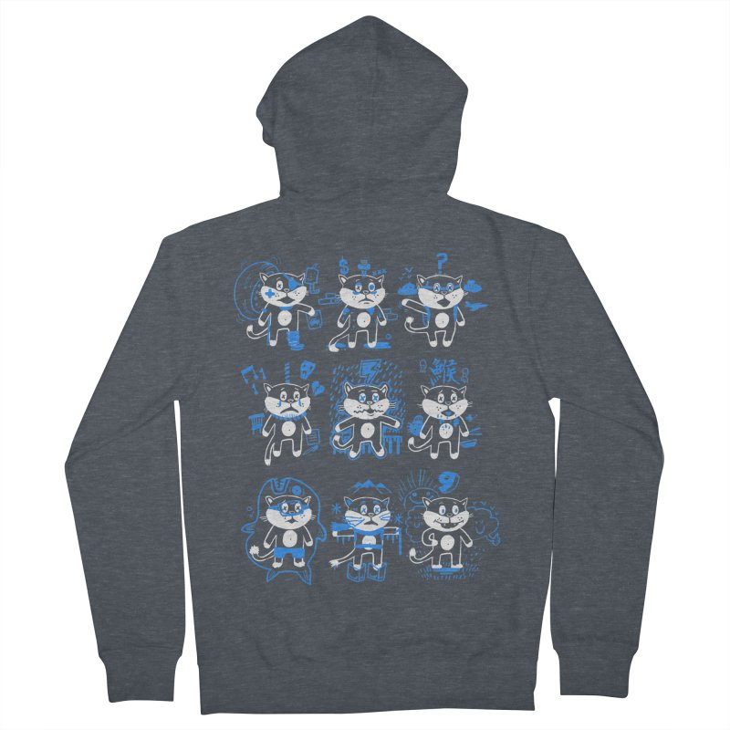 Nine Lives Men's French Terry Zip-Up Hoody by Thomas Orrow