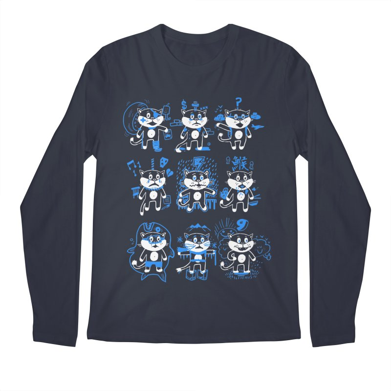 Nine Lives Men's Regular Longsleeve T-Shirt by Thomas Orrow