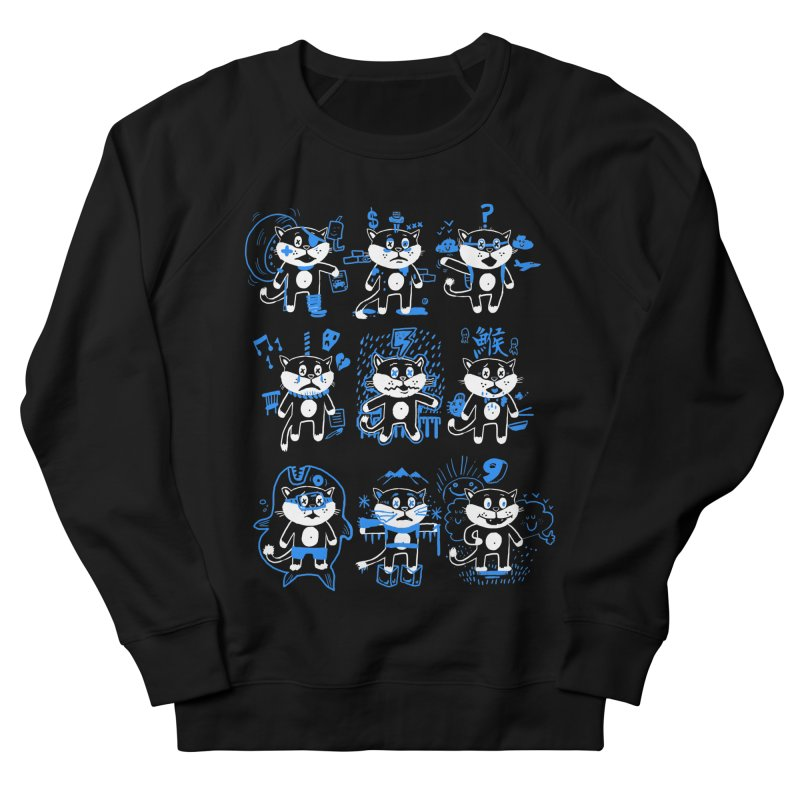 Nine Lives Men's French Terry Sweatshirt by Thomas Orrow