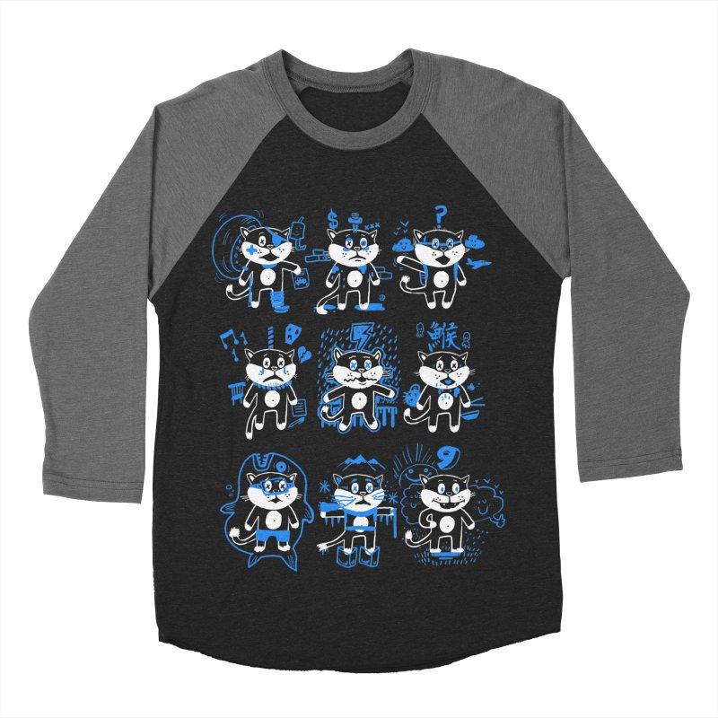 Nine Lives Men's Baseball Triblend Longsleeve T-Shirt by Thomas Orrow