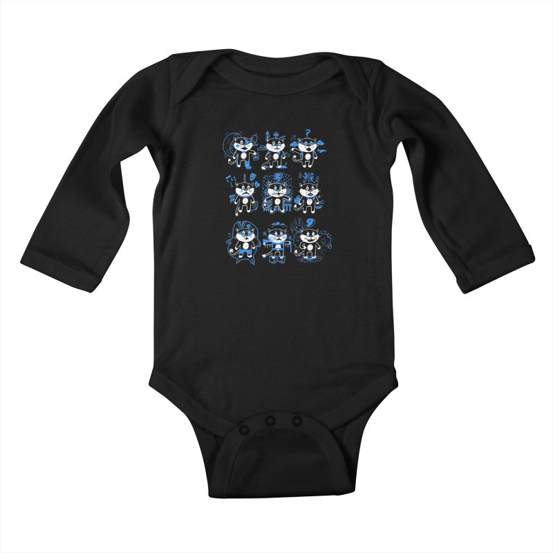 Nine Lives Kids Baby Longsleeve Bodysuit by Thomas Orrow