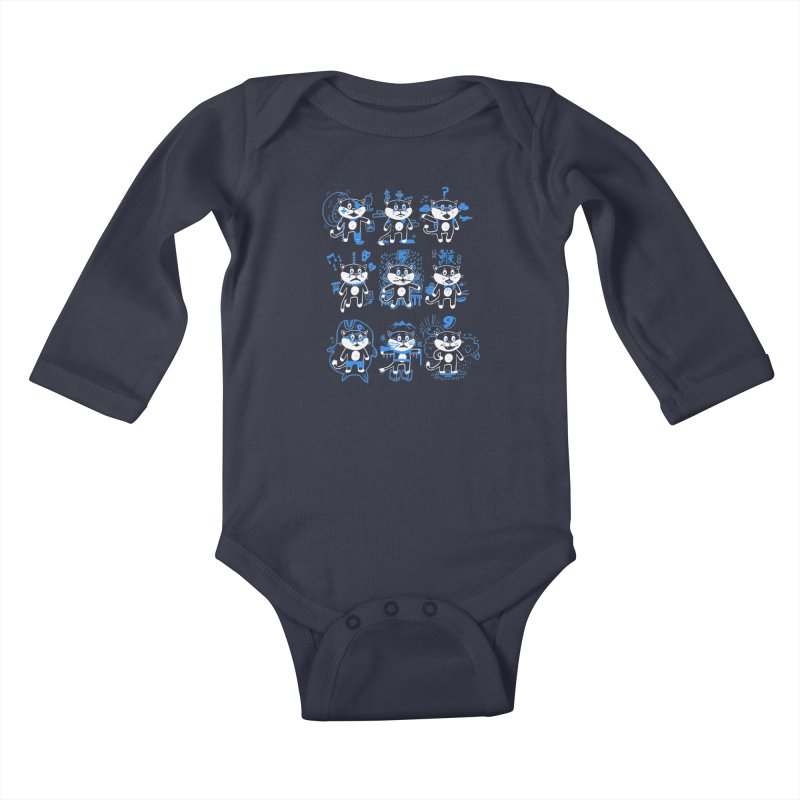 Nine Lives Kids Baby Longsleeve Bodysuit by Thomas Orrow