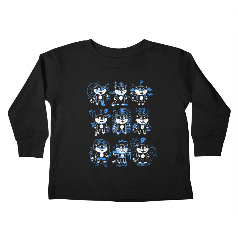 Nine Lives Kids Toddler Longsleeve T-Shirt by Thomas Orrow