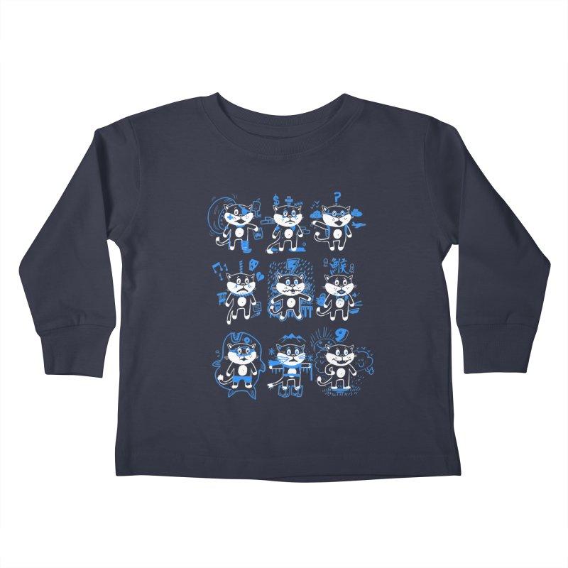 Nine Lives Kids Toddler Longsleeve T-Shirt by Thomas Orrow
