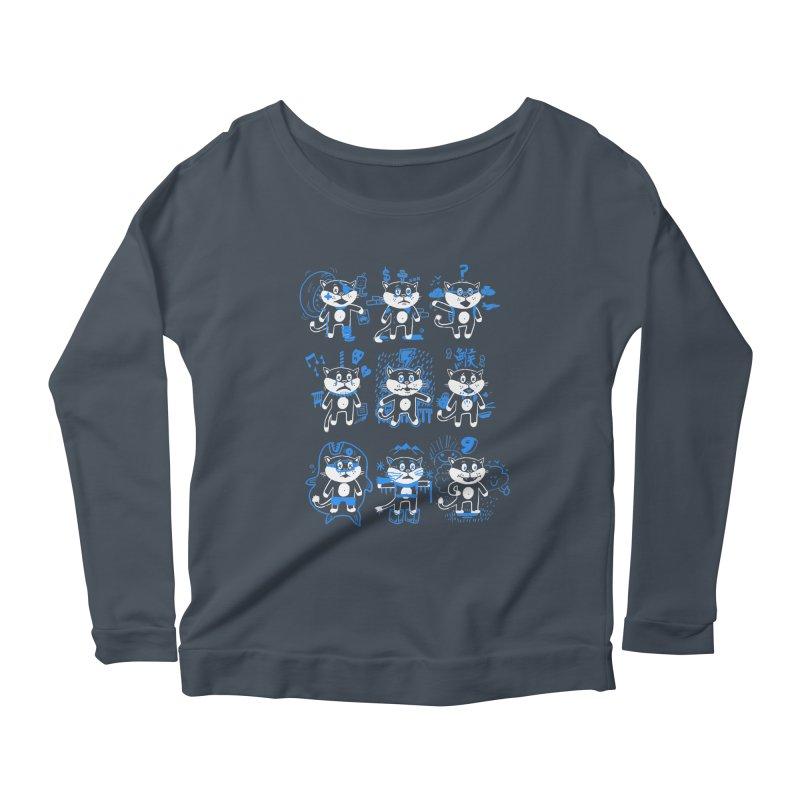 Nine Lives Women's Scoop Neck Longsleeve T-Shirt by Thomas Orrow