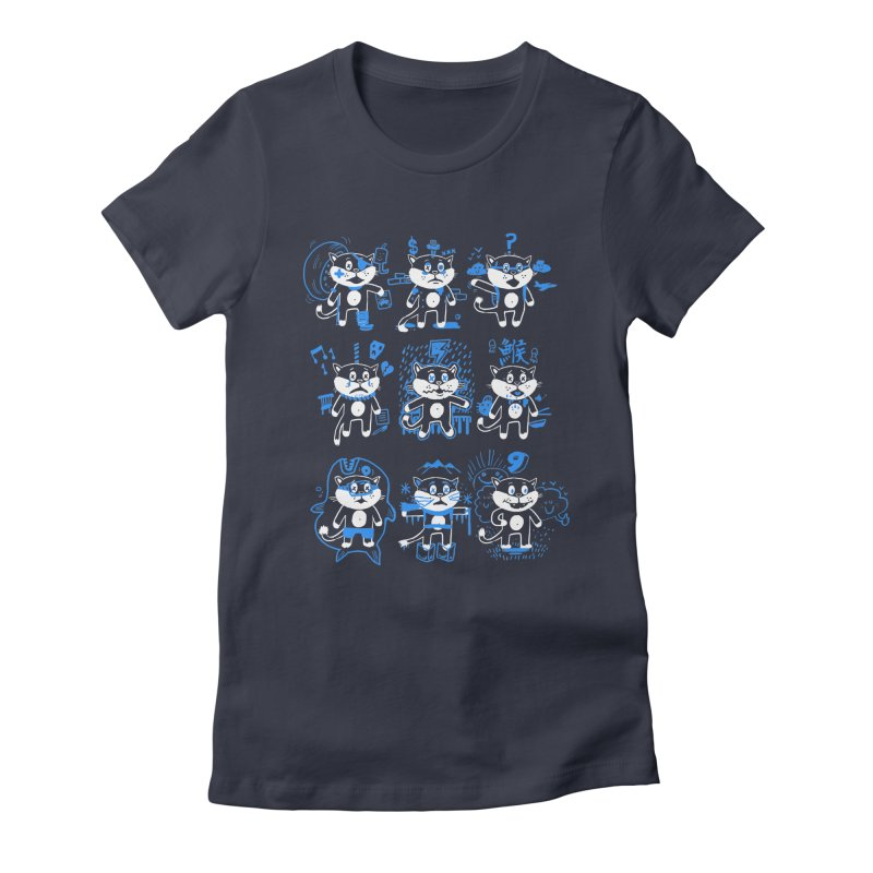 Nine Lives Women's Fitted T-Shirt by Thomas Orrow