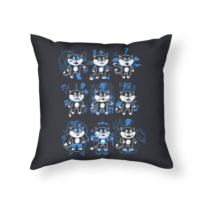 Nine Lives Home Throw Pillow by Thomas Orrow