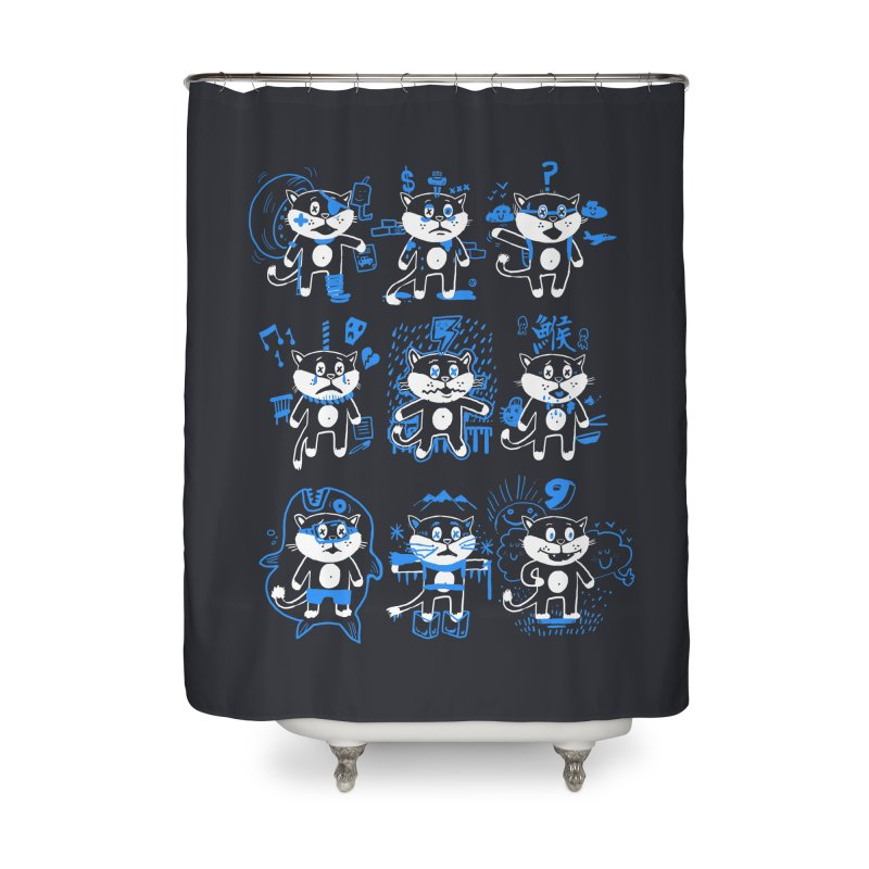 Nine Lives Home Shower Curtain by Thomas Orrow