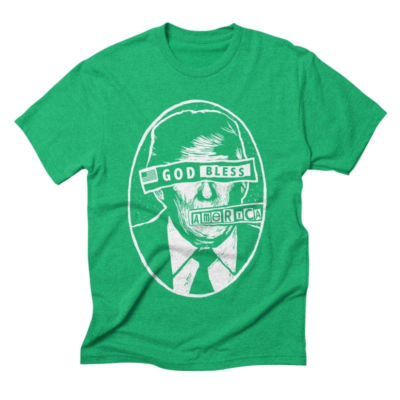 God Bless America Men's Triblend T-Shirt by Thomas Orrow