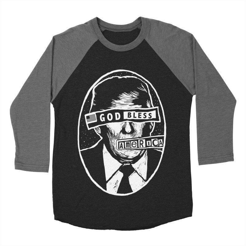 God Bless America Men's Baseball Triblend Longsleeve T-Shirt by Thomas Orrow