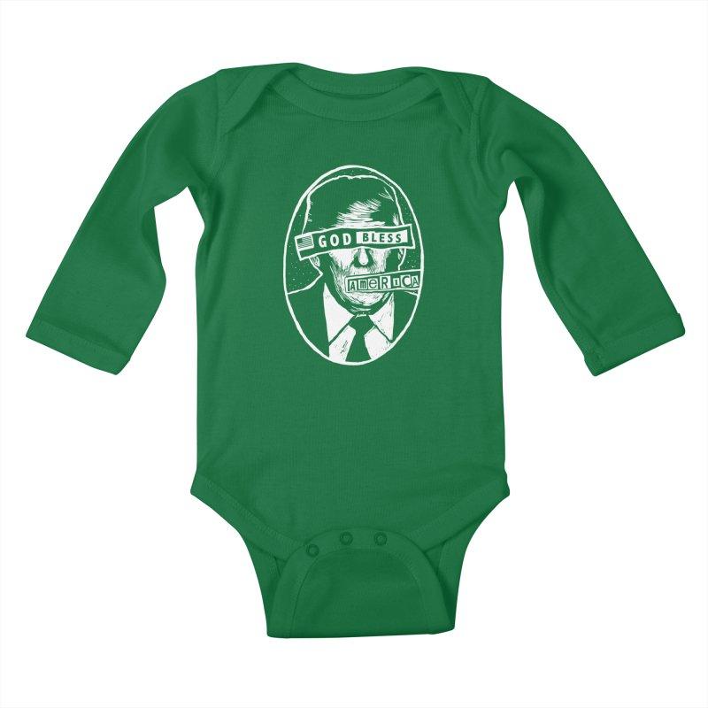 God Bless America Kids Baby Longsleeve Bodysuit by Thomas Orrow