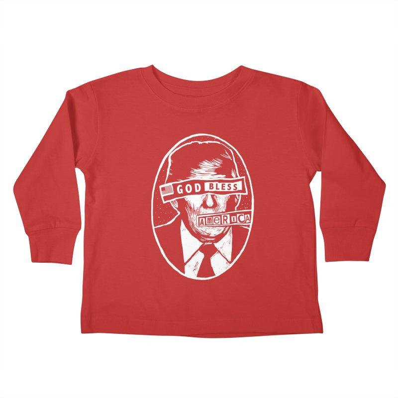 God Bless America Kids Toddler Longsleeve T-Shirt by Thomas Orrow