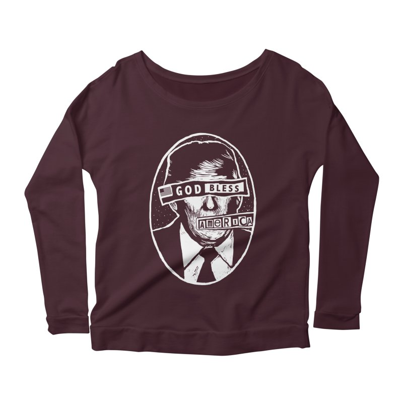 God Bless America Women's Scoop Neck Longsleeve T-Shirt by Thomas Orrow