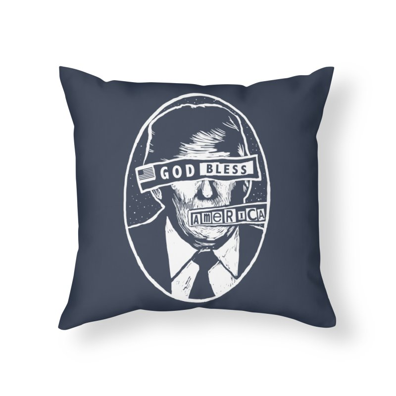God Bless America Home Throw Pillow by Thomas Orrow