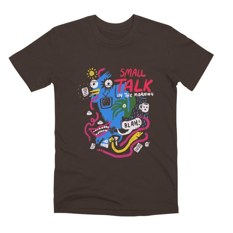 The Horror of Small Talk Men's Premium T-Shirt by Thomas Orrow