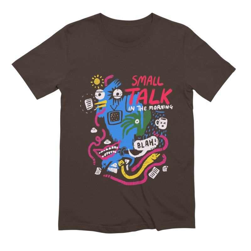 The Horror of Small Talk Men's Extra Soft T-Shirt by Thomas Orrow