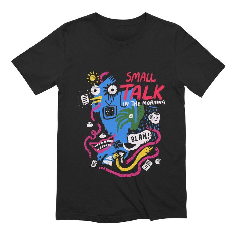 The Horror of Small Talk Men's Extra Soft T-Shirt by Thomas Orrow
