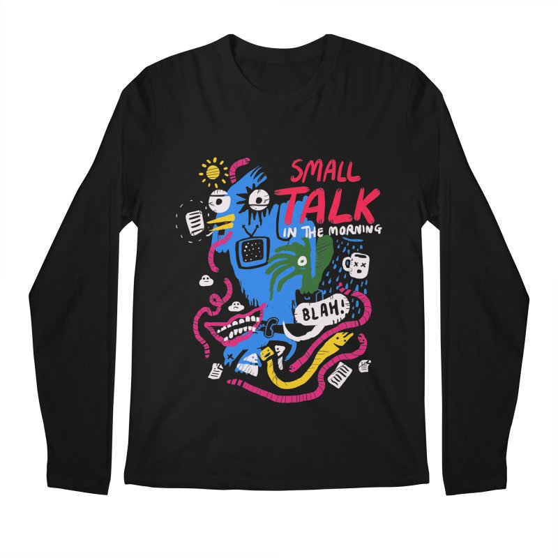 The Horror of Small Talk Men's Regular Longsleeve T-Shirt by Thomas Orrow