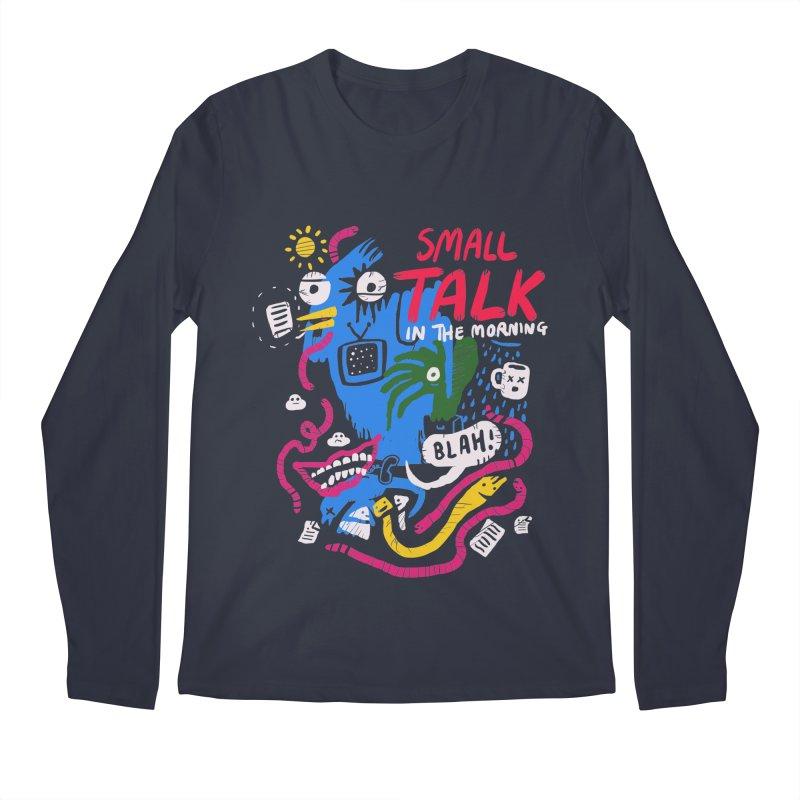 The Horror of Small Talk Men's Regular Longsleeve T-Shirt by Thomas Orrow