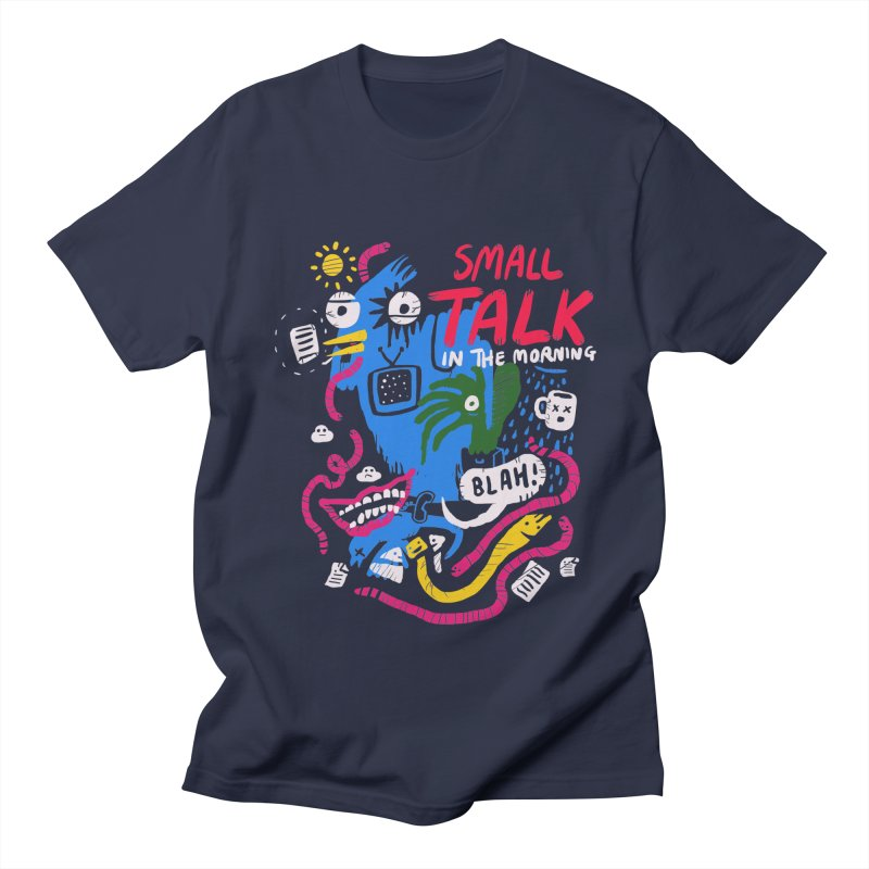 The Horror of Small Talk Men's Regular T-Shirt by Thomas Orrow