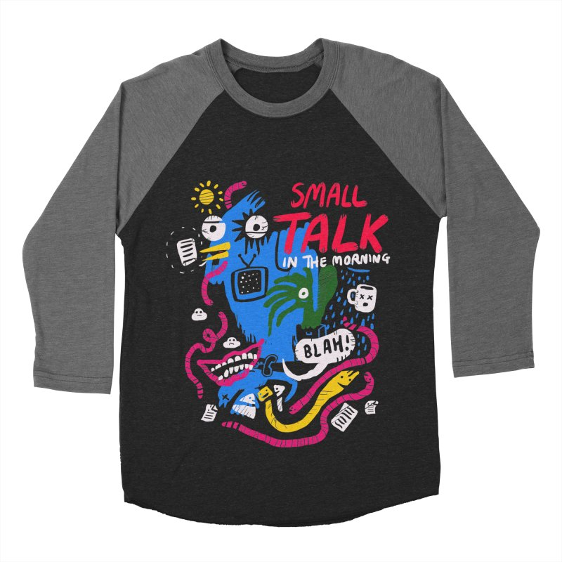 The Horror of Small Talk Men's Baseball Triblend Longsleeve T-Shirt by Thomas Orrow