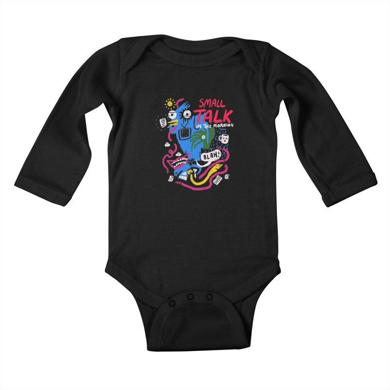 The Horror of Small Talk Kids Baby Longsleeve Bodysuit by Thomas Orrow