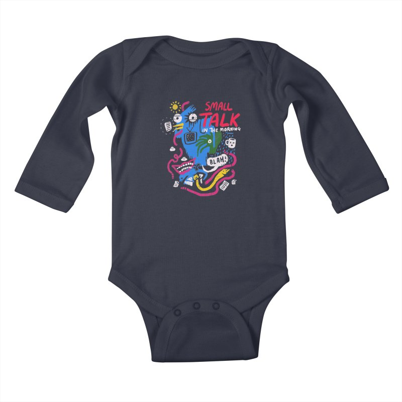 The Horror of Small Talk Kids Baby Longsleeve Bodysuit by Thomas Orrow