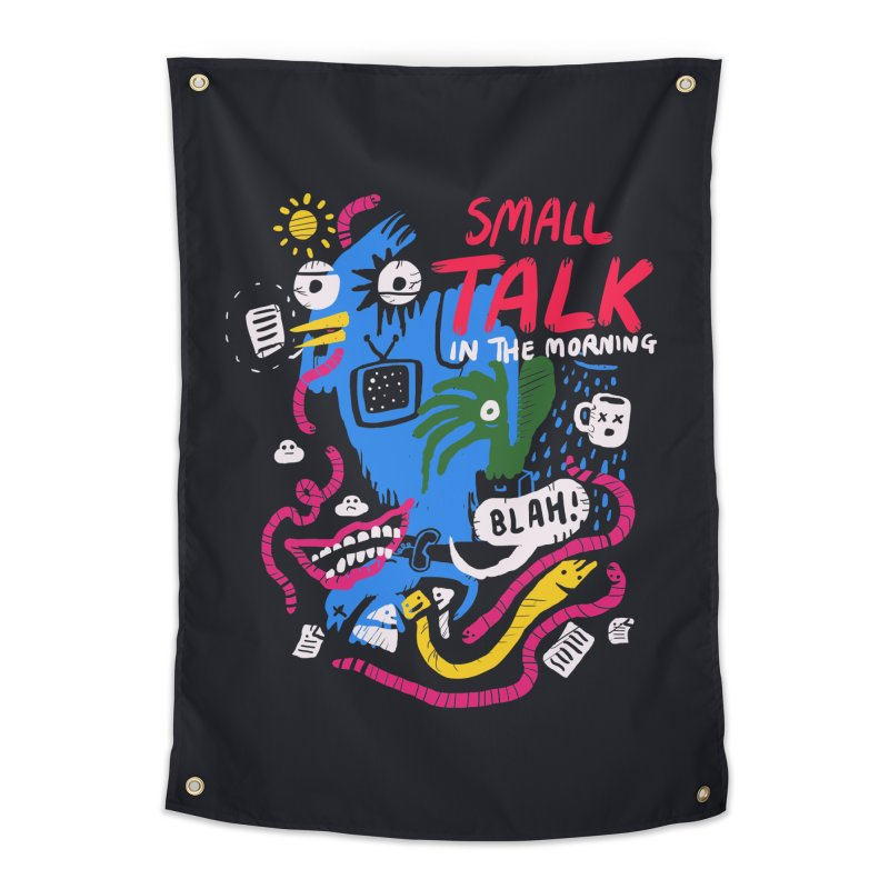 The Horror of Small Talk Home Tapestry by Thomas Orrow