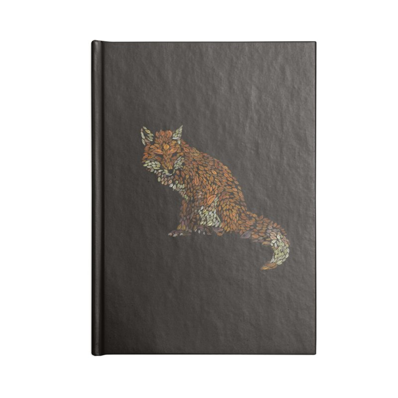 The Fox Leaves at Midnight Accessories Notebook by Thomas Orrow