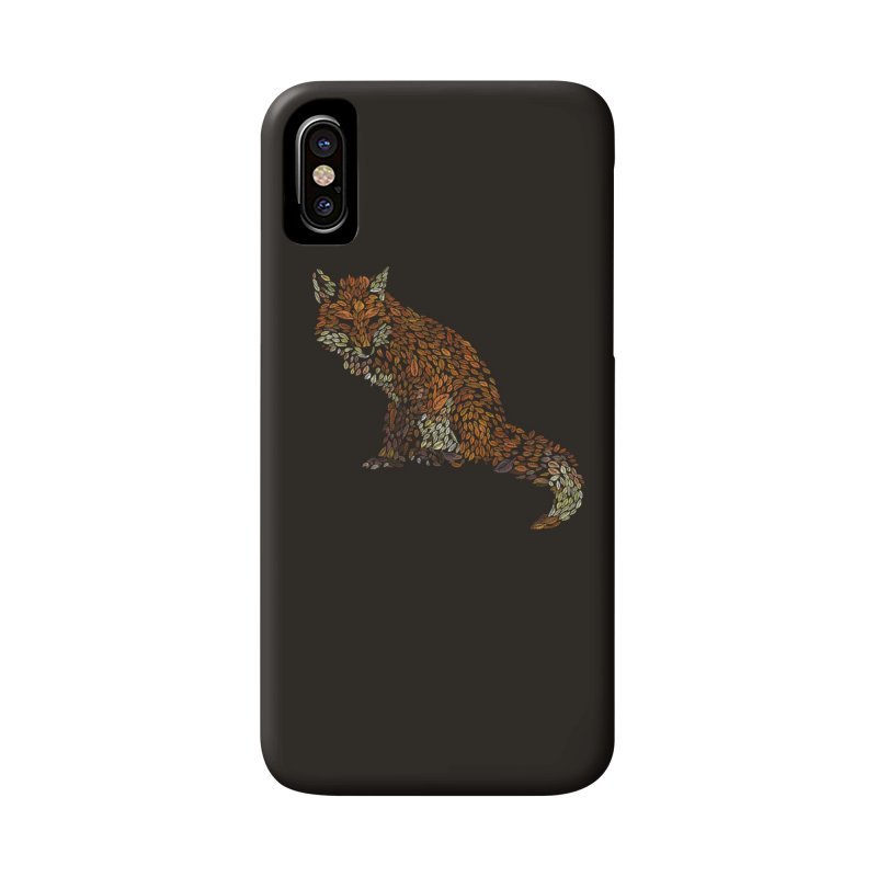 The Fox Leaves at Midnight Accessories Phone Case by Thomas Orrow