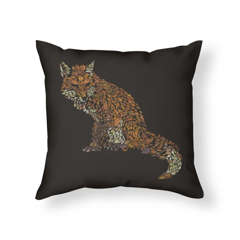 The Fox Leaves at Midnight Home Throw Pillow by Thomas Orrow