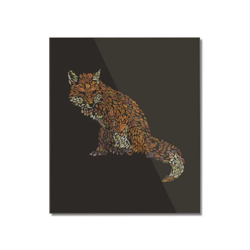The Fox Leaves at Midnight in Mounted Acrylic Print by Thomas Orrow