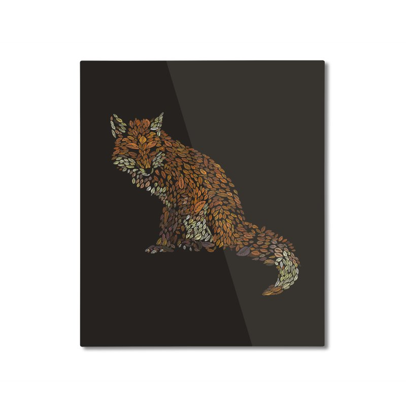 The Fox Leaves at Midnight Home Mounted Aluminum Print by Thomas Orrow