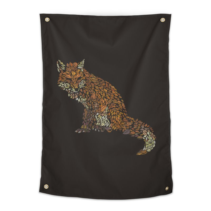 The Fox Leaves at Midnight Home Tapestry by Thomas Orrow