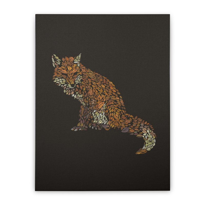 The Fox Leaves at Midnight Home Stretched Canvas by Thomas Orrow