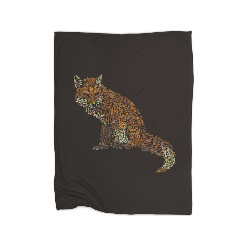 The Fox Leaves at Midnight Home Blanket by Thomas Orrow