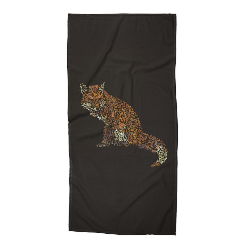 The Fox Leaves at Midnight Accessories Beach Towel by Thomas Orrow