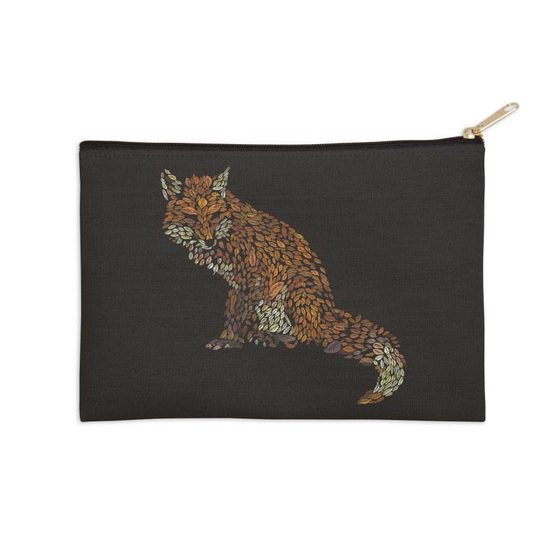 The Fox Leaves at Midnight Accessories Zip Pouch by Thomas Orrow
