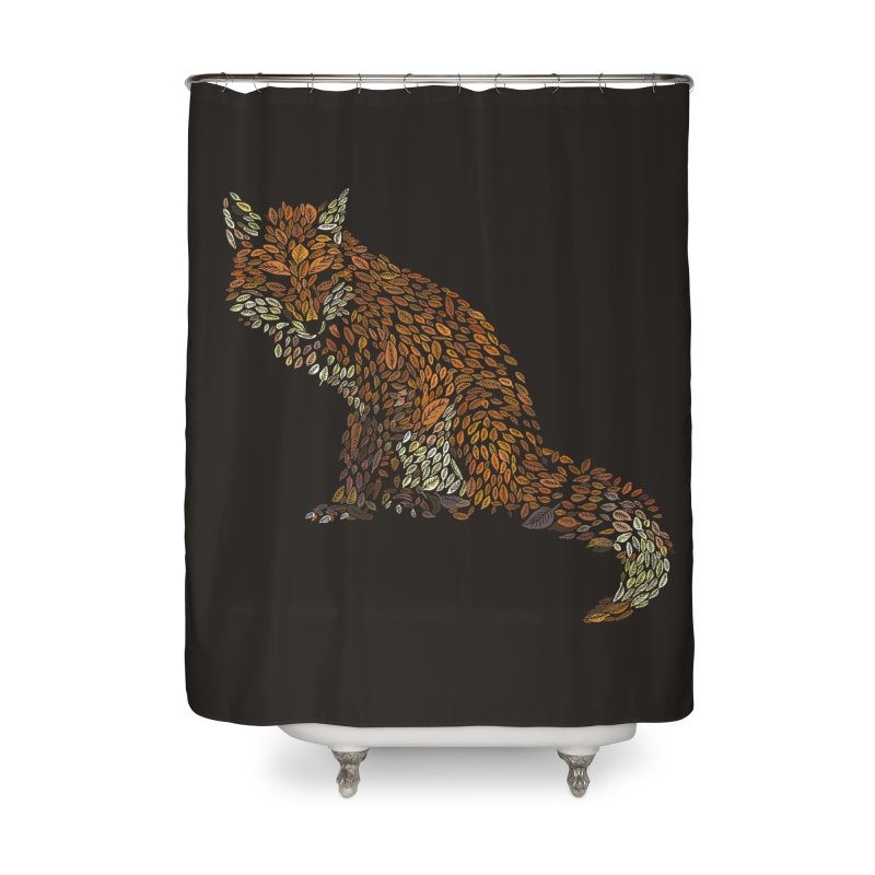 The Fox Leaves at Midnight Home Shower Curtain by Thomas Orrow