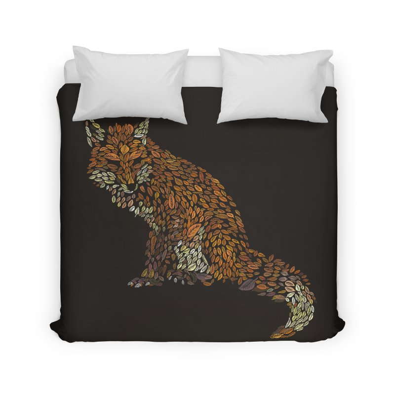 The Fox Leaves at Midnight Home Duvet by Thomas Orrow