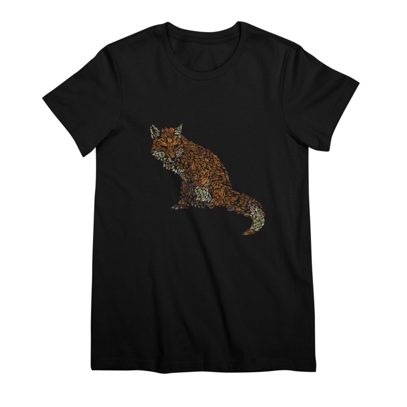 The Fox Leaves at Midnight Women's Premium T-Shirt by Thomas Orrow