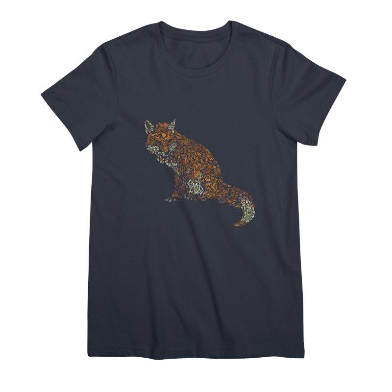 The Fox Leaves at Midnight Women's Premium T-Shirt by Thomas Orrow