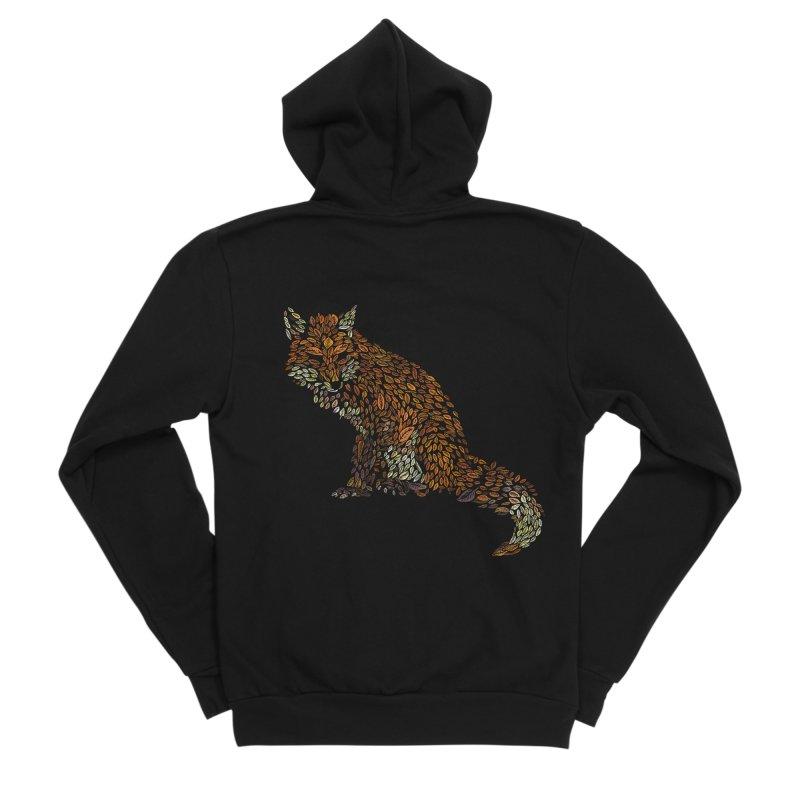 The Fox Leaves at Midnight Women's Sponge Fleece Zip-Up Hoody by Thomas Orrow