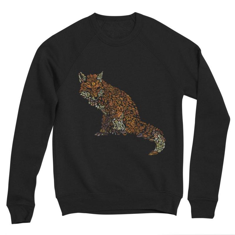 The Fox Leaves at Midnight Women's Sponge Fleece Sweatshirt by Thomas Orrow