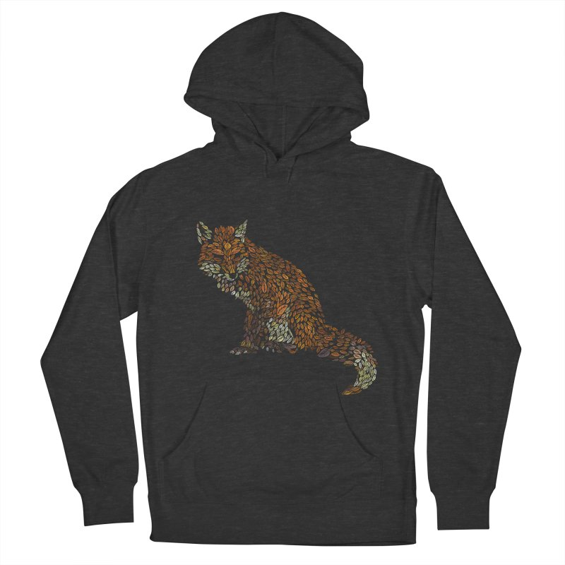 The Fox Leaves at Midnight Women's French Terry Pullover Hoody by Thomas Orrow