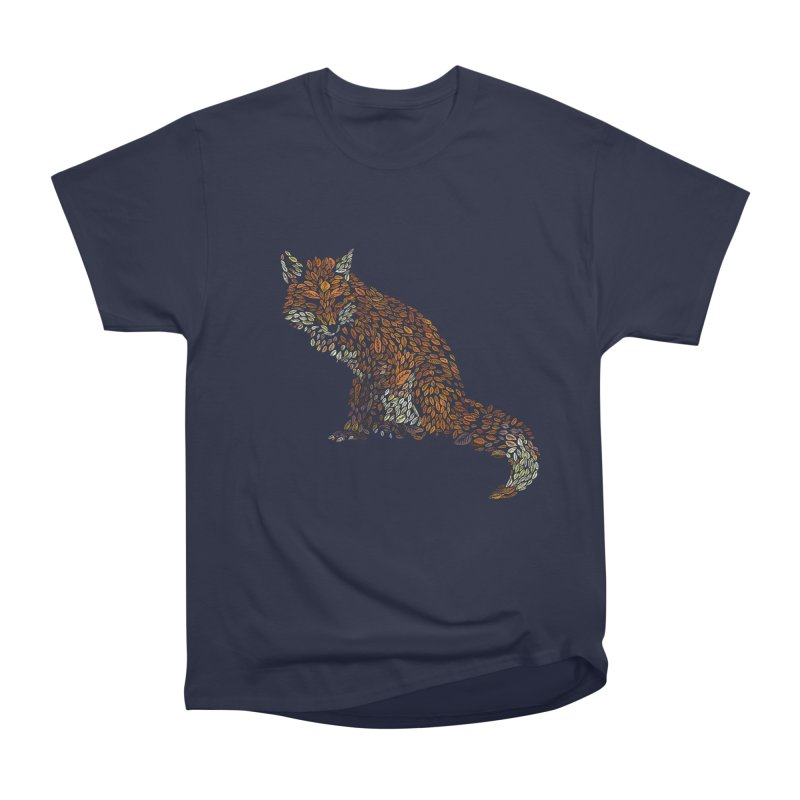 The Fox Leaves at Midnight Men's Heavyweight T-Shirt by Thomas Orrow