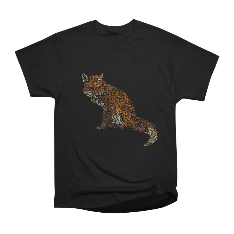 The Fox Leaves at Midnight Women's Heavyweight Unisex T-Shirt by Thomas Orrow